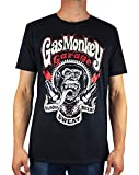 Gas Monkey Garage Blood, Sweat and Beers Sparkplugs - Camiseta para Hombre Negro...