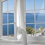 Jajadeal 400cm Aislamiento de Ventana para Aire Acondicionado Móvil, Aislante para Ventana para Aire Acondicionado Portátil y Secadora, Parada de Aire Caliente - Window Seal for Mobile Air Conditioner
