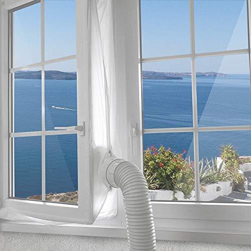 400cm Universal Fensterabdichtung Für Mobile Klimageräte, Klimaanlagen, Abluft-Wäschetrockner, Ablufttrockner, Trockner, Bautrockner, Luftentfeuchter