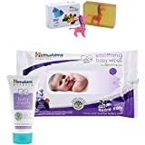 Himalaya Herbals Baby Cream (50g)+Himalaya Herbals Soothing Baby Wipes (24 Sheets) With Happy Baby Luxurious Kids Soap With Toy (100gm)