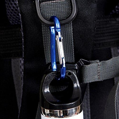 55L Trekkingrucksack Wasserdicht Wanderrucksack Taktische Rucksack Trekkingrucksäcke Outdoor Rucksack Reiserucksack Sportrucksack für Reisen Wandern und Bergsteigen Red