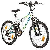 20 Zoll Sprint EU-PRODUKT Kinderfahrrad Mountainbike Jungen Mädchen Damen, Rahmen 31 cm, 6-Gang Schwarz (White)