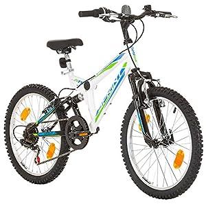 51qiqEBwWZL. SS300 20 pollici, CoollooK, SPRINT, Bicicletta Mountain Bike, Unisex, 6 velocità, Nero