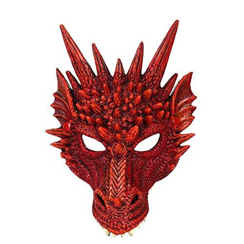 EZIZB Tiermasken Masken Für Kinder 3D Tier Drachen Maske Für Halloween Weihnachten Geburtstag Bühnenaufführungen Thema Party