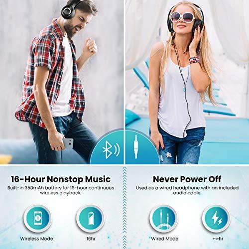 Bluetooth Kopfhörer, ELEGIANT Bluetooth 4.1 Wireless Stereo Headset drahtlose Kopfhörer Ohrhörer On Ear Kopfhörer + Mic/Freisprechfunktion + 3,5mm Audio AUX für Smartphone - 3