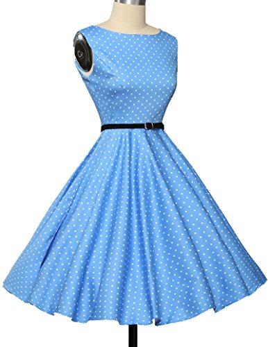 1950er retro kleid audrey hepburn kleid polka dots rockabilly kleid vintage kleid Größe XS CL6086-1 - 4
