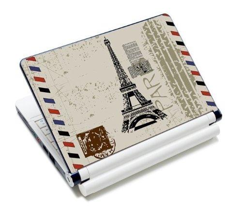 MySleeveDesign Notebook Skin Aufkleber Folie Sticker für Geräte der Größe 10,2 Zoll / 11,6 - 12,1 Zoll / 13,3 Zoll / 14 Zoll / 15,4 - 15,6 Zoll mit VERSCH. DESIGNS - Paris Stamp