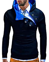 MT Styles Kapuzenpullover Hoher Kragen Pullover Hoodie S-135