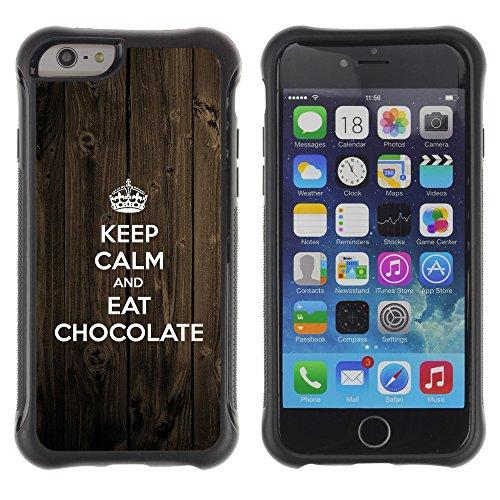 Graphic4You Praline Bar Schokolade Design Shockproof Anti-Rutsch Weichen Hülle Case Tasche Schutzhülle für Apple iPhone 6 Plus / 6S Plus Design #1