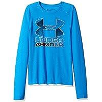 Under Armour Chicos 'híbrida Big Logo Camiseta de Manga Larga, Niños, Color Mako Blue, tamaño M