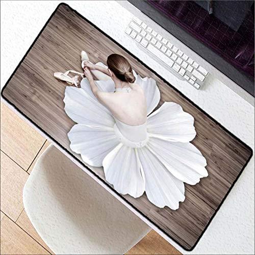 Erjiasan Ballerina-Tänzerin Neues High-Speed-Mousepad, das Rand-Schlag-Mäusematte Computer-Spiel-große Mausunterlage blockiert,400X900X3MM - Vintage Ballerina Bilder
