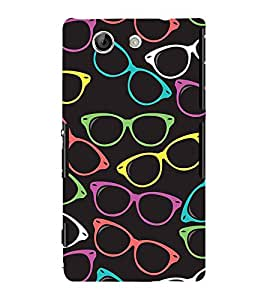 Fiobs Designer Back Case Cover for Sony Xperia Z4 Compact :: Sony Xperia Z4 Mini (Colorful Sun Glasses Linear Beautiful )