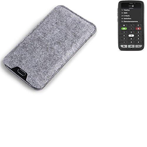K-S-Trade Filz Schutz Hülle für Doro 8031C Schutzhülle Filztasche Filz Tasche Case Sleeve Handyhülle Filzhülle grau