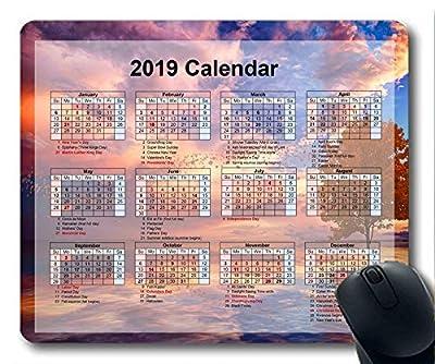 Yanteng Cojín de ratón del Calendario 2020 181230-001 por Yanteng