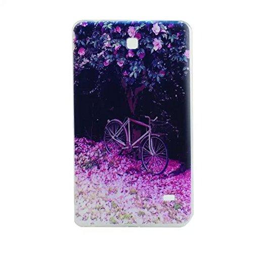 FEING Soft Schutz Schale Hülle TPU Schutzhülle Tasche für Samsung Galaxy Tab 4 7.0 SM-T230 SM-T235 SM-T231- Design TABTPU 01, Stylus x1 & Displayschutzfolie x1 & Reinigungstuch x1 enthalten