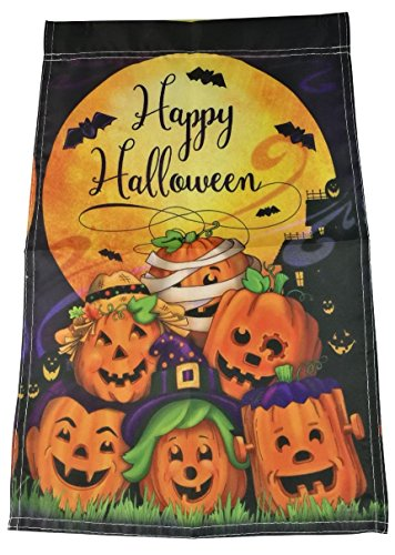 11,8 × 45 cm Happy Halloween Thema Kürbis Muster Garten Flagge Party Home Dekoration