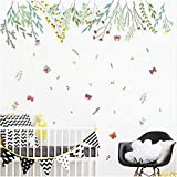 YLGG Creative Green Plant Flower Wall Decals Living Room Tv Background Home Decor Pvc Wall Stickers Diy Mural Art Posters Decorations 102x135 Cm