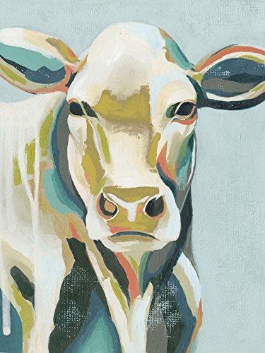 Artland Echt-Glas-Wandbild Deco Glass Grace Popp Bunte Kühe III Tiere Haustiere Kuh Malerei Türkis D0EE (Bunte Kuh-malerei)
