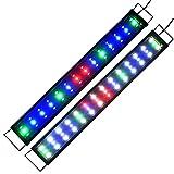 LED Beleuchtung Aquarien Eco Aquarium leuchte Hochleistung Vollspektrum Pflanzen Koralle LED Lampe Aufsetzleuchte mehrfarbig Tageslichtsimulation Pflanzen Wachstumslampe für Süßwasser Meerwasser 90cm-120cm A159
