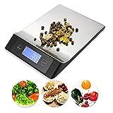 ROTIHYDA Báscula Balanza de cocina digital de 15KG / 1G portátil de acero inoxidable con LCD Electrónica Plataforma postal Horneado Dieta Alimentación Peso, el color como imagen