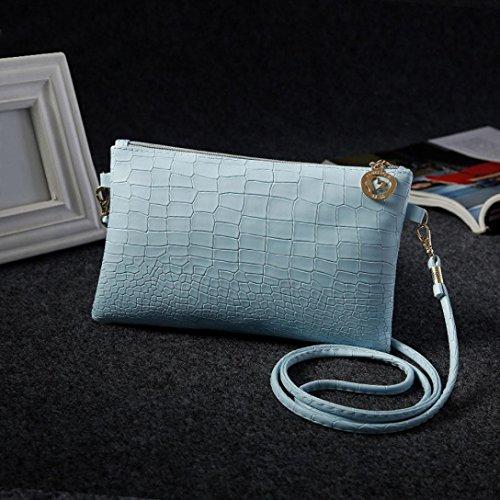 Hunpta Damen Mode Alligator Handtasche Crossbody Umhängetaschen Blau