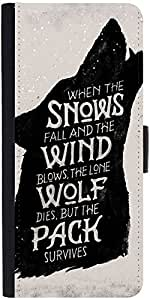 Snoogg The Pack Survives Designer Protective Phone Flip Case Cover For Samsung Galaxy E5