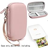 #6: Frosted Rose Gold Protective Case for HP Sprocket Plus Portable Photo Printer, Mesh Pocket for Photo Paper and Cable, Elastics Strap to secure device, Detachable Wrist Strap