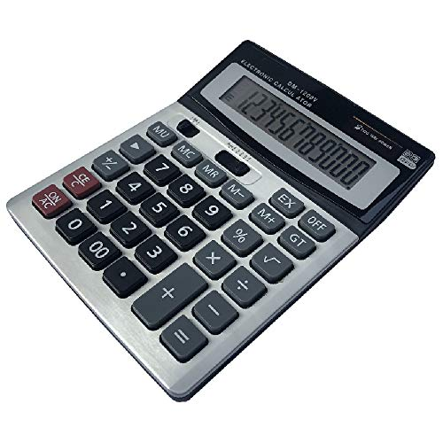 HIHUHEN Calculatrice de Bureau à 12 Chiffres, Fonction Standard d'affaires Calculateur de Bureau (1 x Calculator)