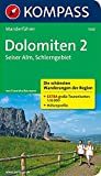 Dolomiten 2 - Seiser Alm - Schlerngebiet: Wanderführer mit Tourenkarten und Höhenprofilen (KOMPASS-Wanderführer, Band 5740) - Franziska Baumann