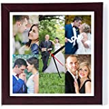 12in X 12in PERSONALISED/CUSTOMISED PHOTO FRAME WALL CLOCKS PHOTO CLOCKS CLOCK WITH PHOTOS FOR HOME DECOR AND GIFTING YOUR LOVED ONES FOR ALL OCCASIONS AND PARTIES Personalised & Customised Gifts For Him Her Family Friends Father Mother Sister Brother