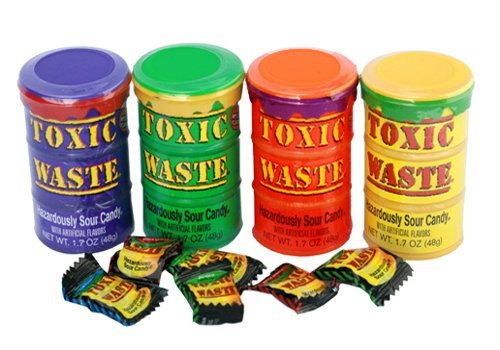 Toxic Waste Mix (4 Tubs with Diffferent Flavours) - 4 Tubs
