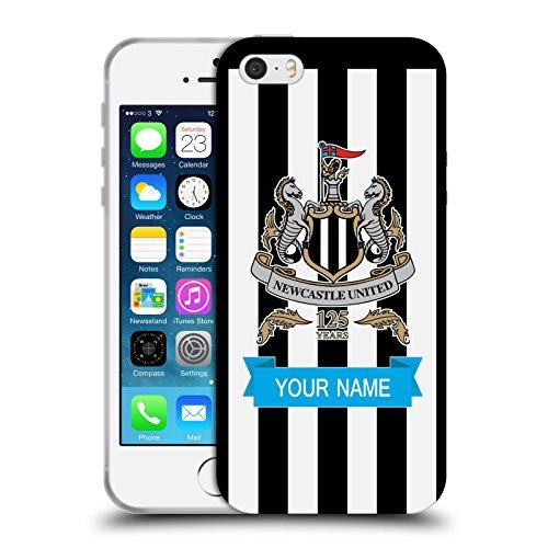 Cover Personalizzata Personale Newcastle United FC NUFC In Casa Colore Pieno 2017/18 Cover Morbida In Gel Per Apple iPhone X In Casa Colore Pieno