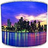 Premier Lighting Ltd 12 inch New York Blue Skyline Abat-Jour pour Un plafonnier