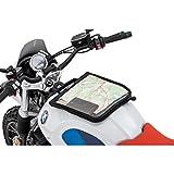 Motorrad Tankrucksack Zubehör QBag Magnet Kartentasche mit Riemenoption, großes Kartenfach, dreiseitiger Reißverschluss, Stabiler Tragegriff, Schwarz