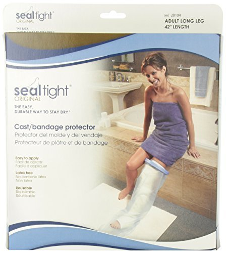 Seal-Tight Blue Original Cast & Bandage Protector - Adult Long Leg by UnAssigned