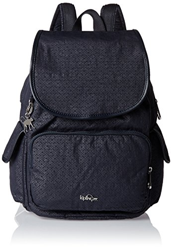 Kipling - City Pack, Bolsos mochila Mujer, Black (Basket Shimmer), 32x37x18.5 cm (W x H x L)