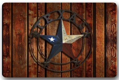 Texas étoile Paillasson Coque antidérapant Lavable en Machine extérieur d'intérieur de Salle de Bain Décor de Cuisine Tapis Tapis 76,2 cm (L) x 45,7 cm (L) 2