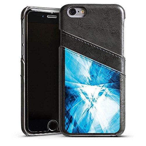 Apple iPhone 5s Housse Étui Protection Coque Cristal Miroir Motif Étui en cuir gris