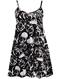 Women Floral Tie Dye Cami Dress Ladies Camisole Swing Flared Strappy Top 8-26