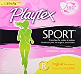Playtex Sport Unscented Tampon, Regular Absorbency, 36 Count by Playtex