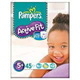 Pampers Active Fit Größe 5 + (13-27kg) Large Bag Junior Plus 2x45 pro Packung