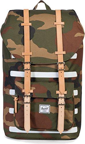 Little America Backpack oliv / braun / weiß