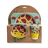 #6: PPD 100% safe Animal Print Kids Dinner Set | Eco friendly 100% Natural Bamboo Fibre Set of 5 pieces.