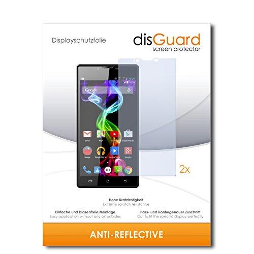 disGuard® Bildschirmschutzfolie [Anti-Reflex] kompatibel mit Archos 55 Platinum [2 Stück] Entspiegelnd, Matt, Antireflektierend, Extrem Kratzfest, Anti-Fingerabdruck - Panzerglas Folie, Schutzfolie