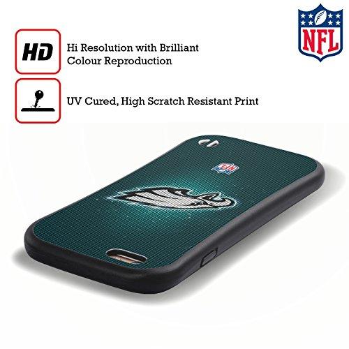 Ufficiale NFL Righe 2017/18 Philadelphia Eagles Case Ibrida per Apple iPhone 6 Plus / 6s Plus LED