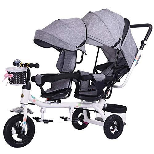 ZLMI Kinderwagen Doppel-Kinderwagensitz 360 ° drehbar Twins Baby Trolley 1-6 Jahre alt bb Car Mommy's Choice