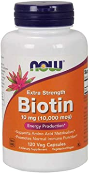 NOW Foods NOW Foods Biotin 10,000mcg Extra Strength Vcaps 120's NEW