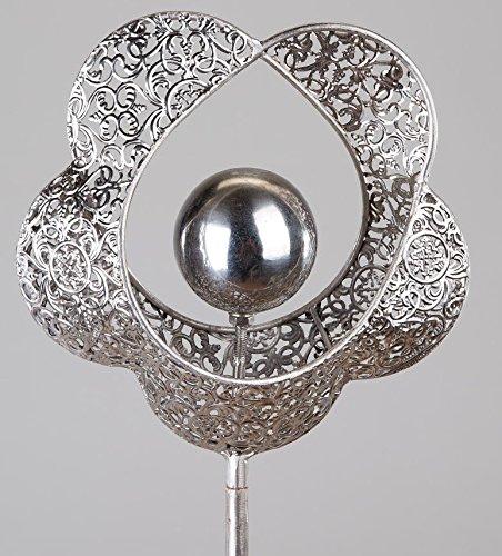 formano Jardin en métal Motif cœur avec fleurs, 100 cm