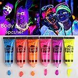 Jspoir Melodiz 6 Teile/Satz Halloween Fluoreszenz Make-Up Flash Halloween körper färbung pigmente Halloween Dekorationen Halloween Ideen