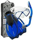 HEAD von Mares Maske, Schnorchel & Flossen/Flossen Tauchen Set (Kinder)–Tauchen Schnorcheln Sets, blau